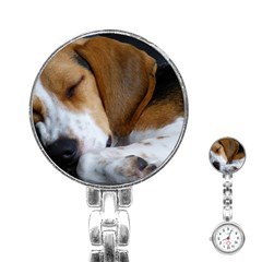 Beagle Sleeping Stainless Steel Nurses Watches