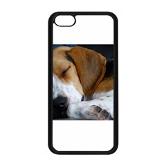 Beagle Sleeping Apple iPhone 5C Seamless Case (Black)