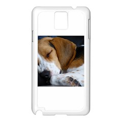 Beagle Sleeping Samsung Galaxy Note 3 N9005 Case (White)