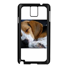 Beagle Sleeping Samsung Galaxy Note 3 N9005 Case (Black)