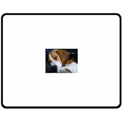 Beagle Sleeping Double Sided Fleece Blanket (Medium)