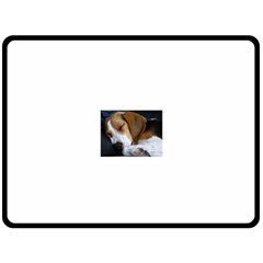 Beagle Sleeping Double Sided Fleece Blanket (Large)