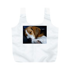 Beagle Sleeping Full Print Recycle Bags (M)