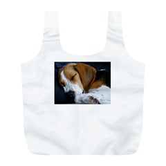 Beagle Sleeping Full Print Recycle Bags (L)