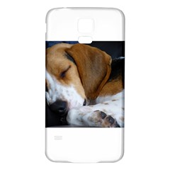 Beagle Sleeping Samsung Galaxy S5 Back Case (White)