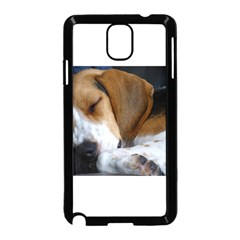 Beagle Sleeping Samsung Galaxy Note 3 Neo Hardshell Case (Black)