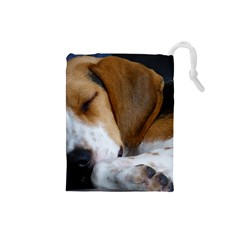 Beagle Sleeping Drawstring Pouches (Small)