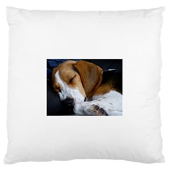 Beagle Sleeping Large Flano Cushion Cases (One Side)