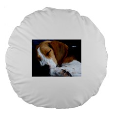 Beagle Sleeping Large 18  Premium Flano Round Cushions