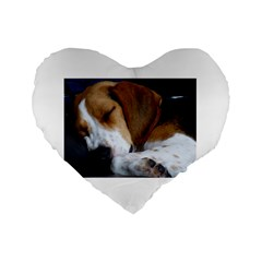 Beagle Sleeping Standard 16  Premium Flano Heart Shape Cushions