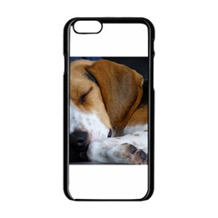 Beagle Sleeping Apple iPhone 6 Black Enamel Case