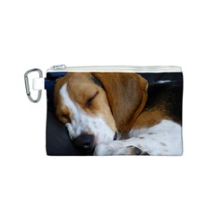 Beagle Sleeping Canvas Cosmetic Bag (S)