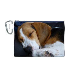Beagle Sleeping Canvas Cosmetic Bag (M)