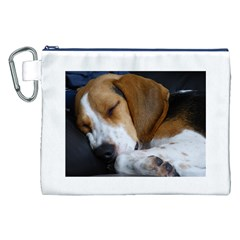Beagle Sleeping Canvas Cosmetic Bag (XXL)