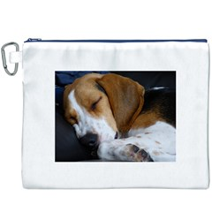 Beagle Sleeping Canvas Cosmetic Bag (XXXL)