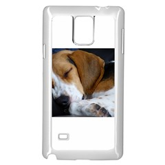 Beagle Sleeping Samsung Galaxy Note 4 Case (White)