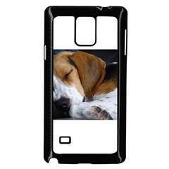 Beagle Sleeping Samsung Galaxy Note 4 Case (Black)