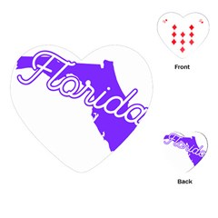 FLorida Home State Pride Playing Cards (Heart)