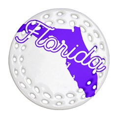 FLorida Home State Pride Ornament (Round Filigree)