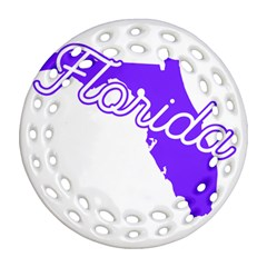 Florida Home State Pride Round Filigree Ornament (2side)
