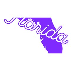 Florida Home State Pride You Are Invited 3d Greeting Card (8x4)