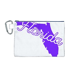 FLorida Home State Pride Canvas Cosmetic Bag (M)