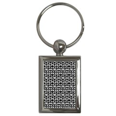 Black And White Owl Pattern Key Chains (Rectangle)