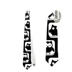 Black And White Owl Pattern Neckties (one Side)