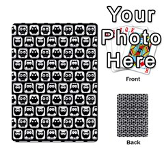 Black And White Owl Pattern Multi-purpose Cards (Rectangle)