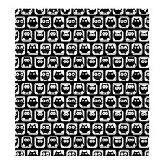 Black And White Owl Pattern Shower Curtain 66  x 72  (Large)