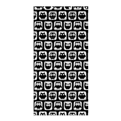 Black And White Owl Pattern Shower Curtain 36  X 72  (stall)
