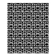 Black And White Owl Pattern Shower Curtain 60  X 72  (medium)