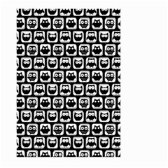 Black And White Owl Pattern Large Garden Flag (two Sides)