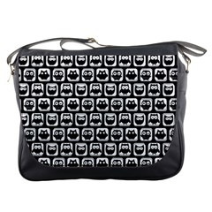 Black And White Owl Pattern Messenger Bags