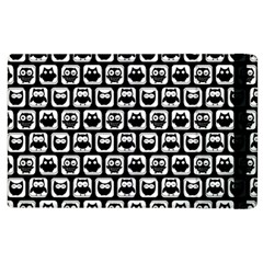 Black And White Owl Pattern Apple iPad 2 Flip Case