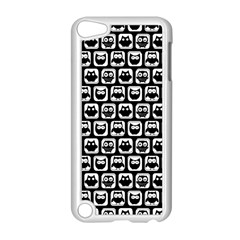 Black And White Owl Pattern Apple iPod Touch 5 Case (White)