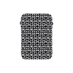 Black And White Owl Pattern Apple iPad Mini Protective Soft Cases