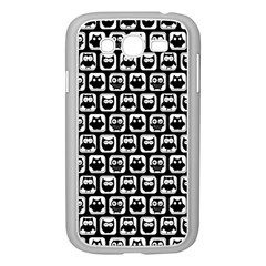 Black And White Owl Pattern Samsung Galaxy Grand DUOS I9082 Case (White)