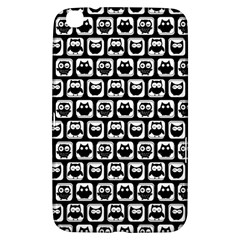 Black And White Owl Pattern Samsung Galaxy Tab 3 (8 ) T3100 Hardshell Case