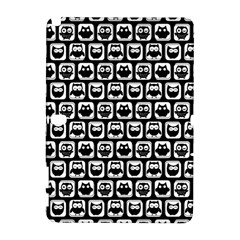 Black And White Owl Pattern Samsung Galaxy Note 10.1 (P600) Hardshell Case