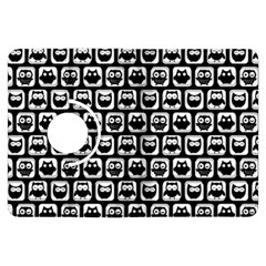 Black And White Owl Pattern Kindle Fire HDX Flip 360 Case