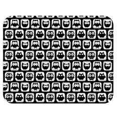 Black And White Owl Pattern Double Sided Flano Blanket (Medium)