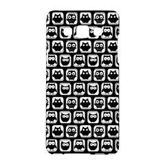 Black And White Owl Pattern Samsung Galaxy A5 Hardshell Case