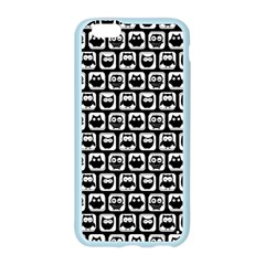 Black And White Owl Pattern Apple Seamless iPhone 6 Case (Color)
