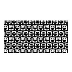 Black And White Owl Pattern Satin Wrap