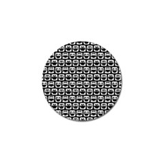 Black And White Owl Pattern Golf Ball Marker (4 pack)