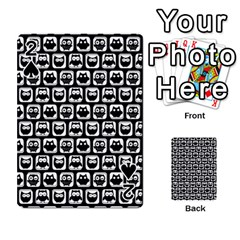 Black And White Owl Pattern Playing Cards 54 Designs