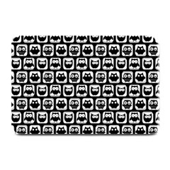 Black And White Owl Pattern Plate Mats