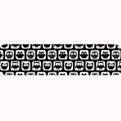 Black And White Owl Pattern Large Bar Mats