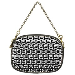 Black And White Owl Pattern Chain Purses (Two Sides)